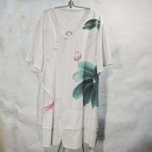 Unique Handpainted Floral Tunic 2x